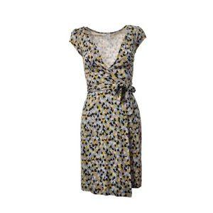 Diane von Furstenburg abstract kye wrap dress 10